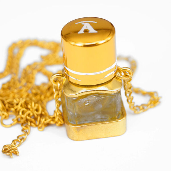 Open square perfume bottle | ALMAH Scented Jewelry