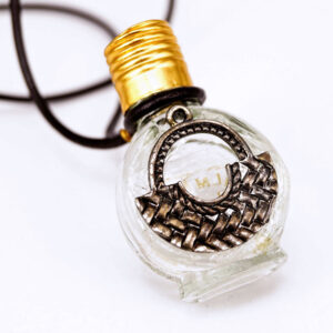 Apricot perfume bottle necklace | ALMAH Scented Jewelry