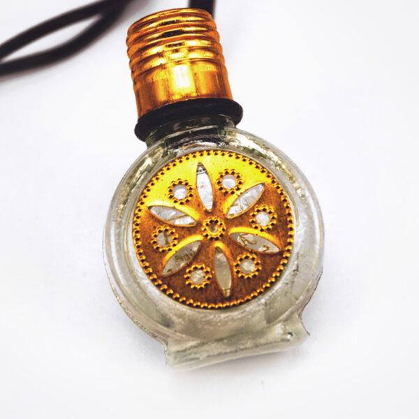 Aquamarine perfume bottle necklace | ALMAH Scented Jewelry