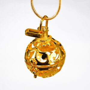 Golden perfume bottle | ALMAH Scented Jewelry
