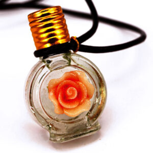 Rose perfume bottle necklace | ALMAH Scented Jewelry